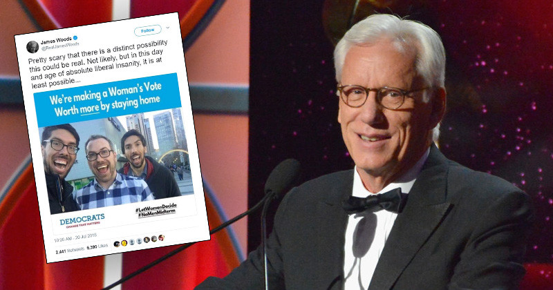 James Woods Suspended From Twitter Over Satirical Meme That Could