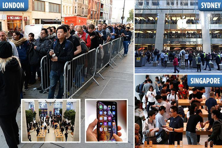 iPhone super-fans queue outside London's Apple Store ahead of £1,449
